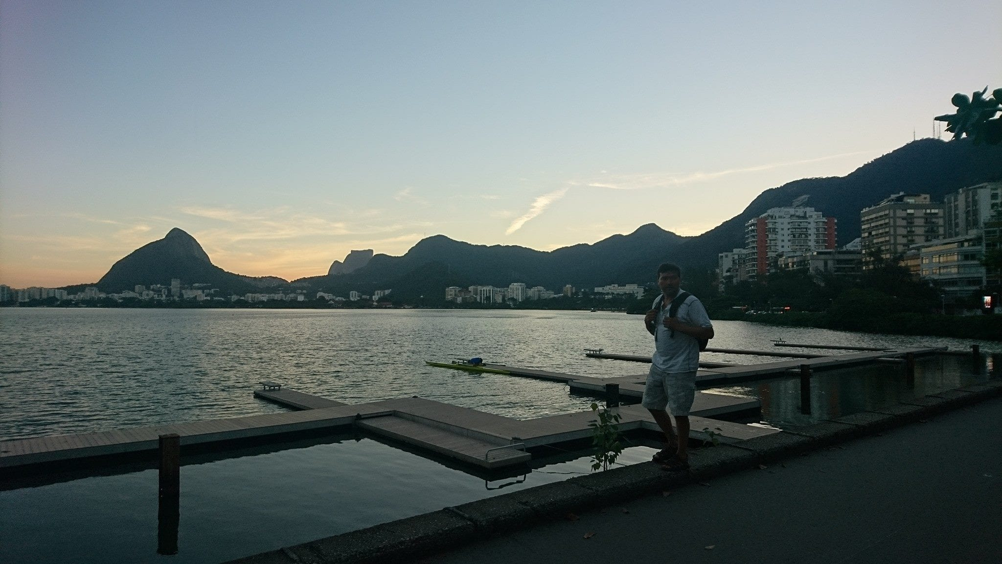 The afternoon is beautiful in Rio's de Janeiro Lagoon.