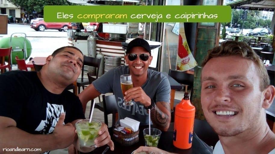 Conjugação do verbo Comprar em Português. Conjugation of Comprar in Portuguese. Eles compraram cerveja e caipirinhas.