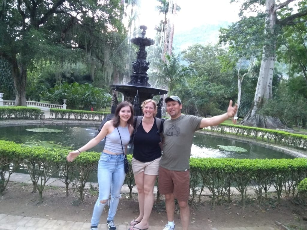 Foreign family at Botanical Garden