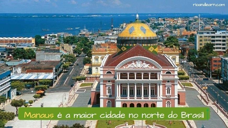 Manaus City in Brazil. Manaus é a maior cidade no norte do Brasil.
