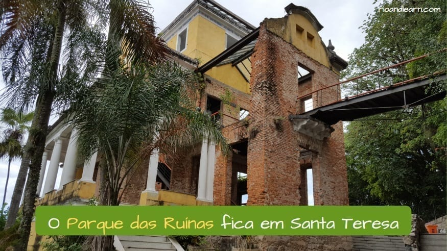 Ruins Park in Rio de Janeiro. O Parque das Ruínas fica em Santa Teresa