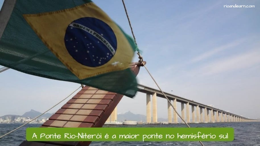 Rio-Niterói Bridge. A Ponte Rio-Niterói é a maior ponte no hemisfério sul.