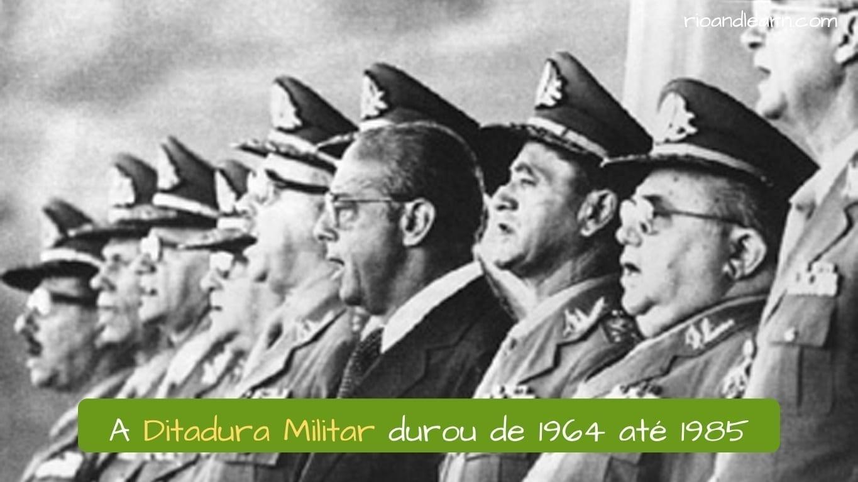 La Dictadura de Brasil duró de 1964 hasta 1985.