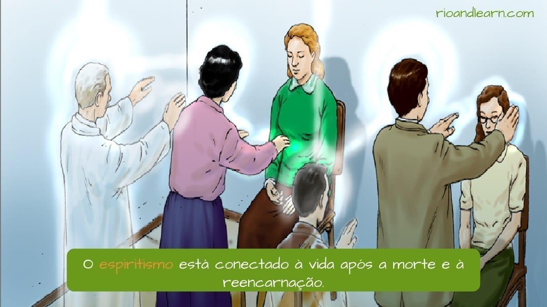 Religiones de Brasil. El Espiritismo conecta la vida después de la muerte y la reencarnación.
