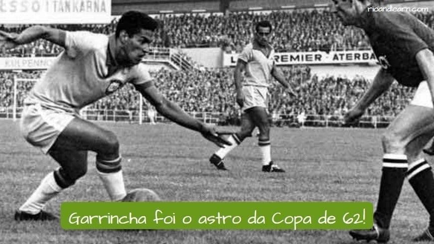 1962 World Cup. Garrincha foi o astro da Copa de 62!