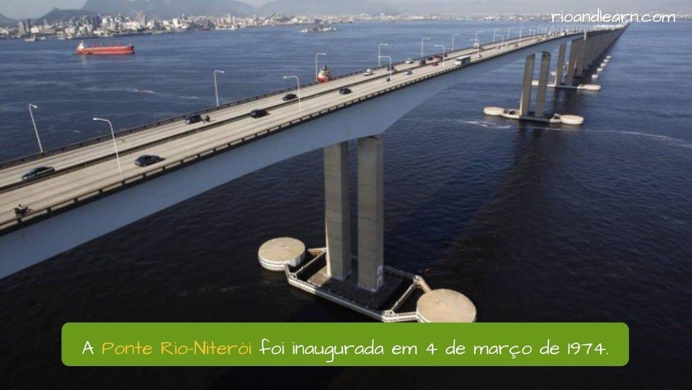 El puente Río-Niterói fue inaugurado el 4 de marzo de 1974 durante la dictadura de Brasil.