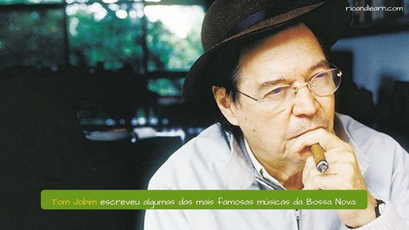 Música Bossa Nova Brasileña. Tom Jobim escribió algunas de las más importantes canciones de Bossa Nova.