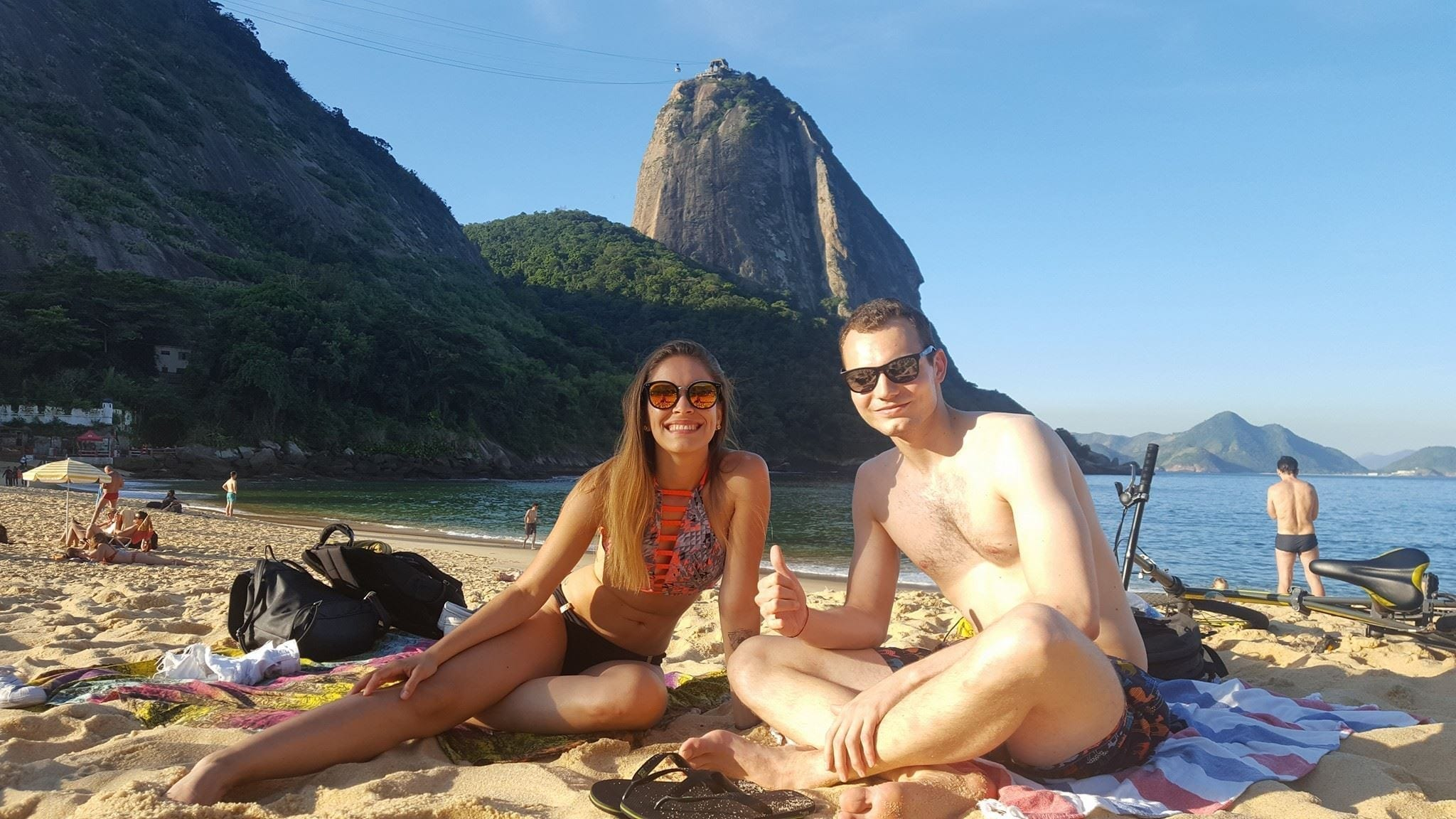Winter is Hot in Rio. Enjoying the sun at Praia Vermelha.