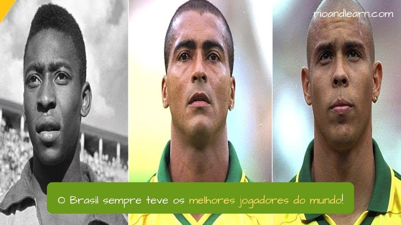 Brazil Best Football Players. O Brasil sem teve os melhores os jogadores do mundo!