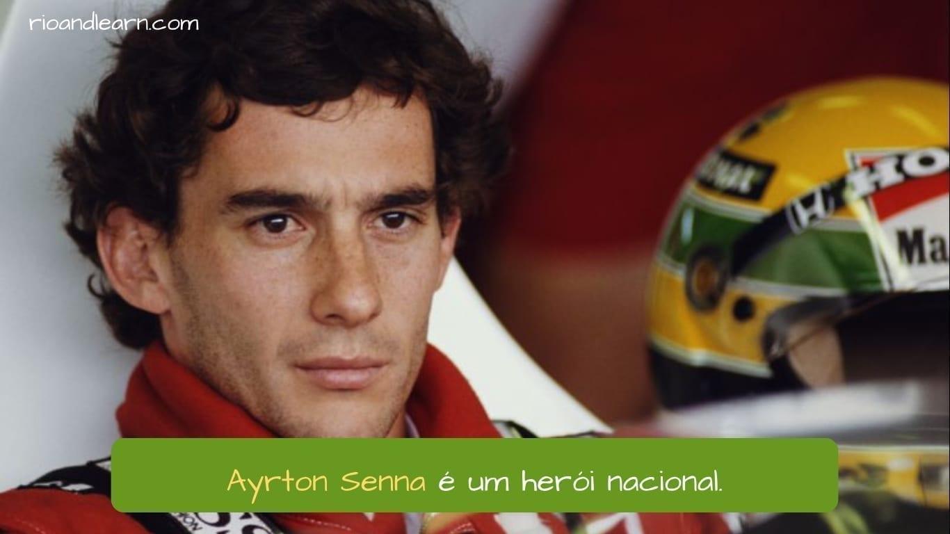 Ayrton Senna Driver. Ayrton Senna é um herói nacional.