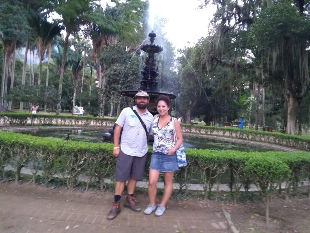 Americans at Botanical Garden! Portuguese Language tour at Botanical Garden.