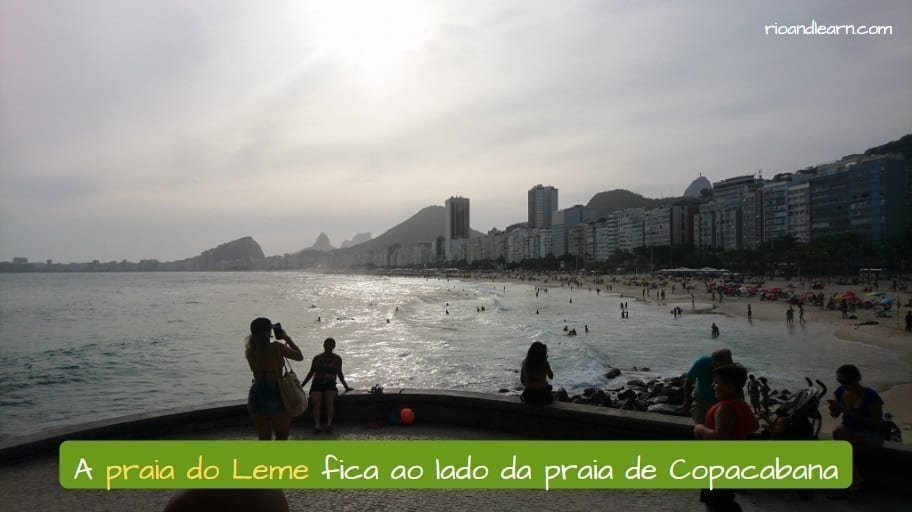 Leme Beach in Rio. A praia do Leme fica ao lado da praia de Copacabana.