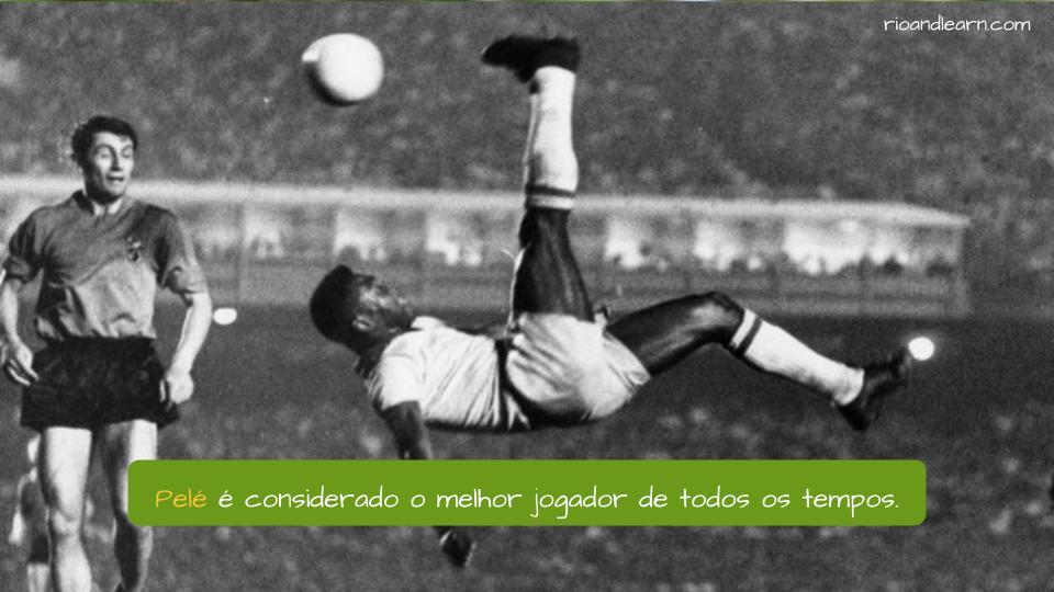 Mejores Jugadores Brasileños de la Historia. Pelé é considerado o melhor jogador de todos os tempos.