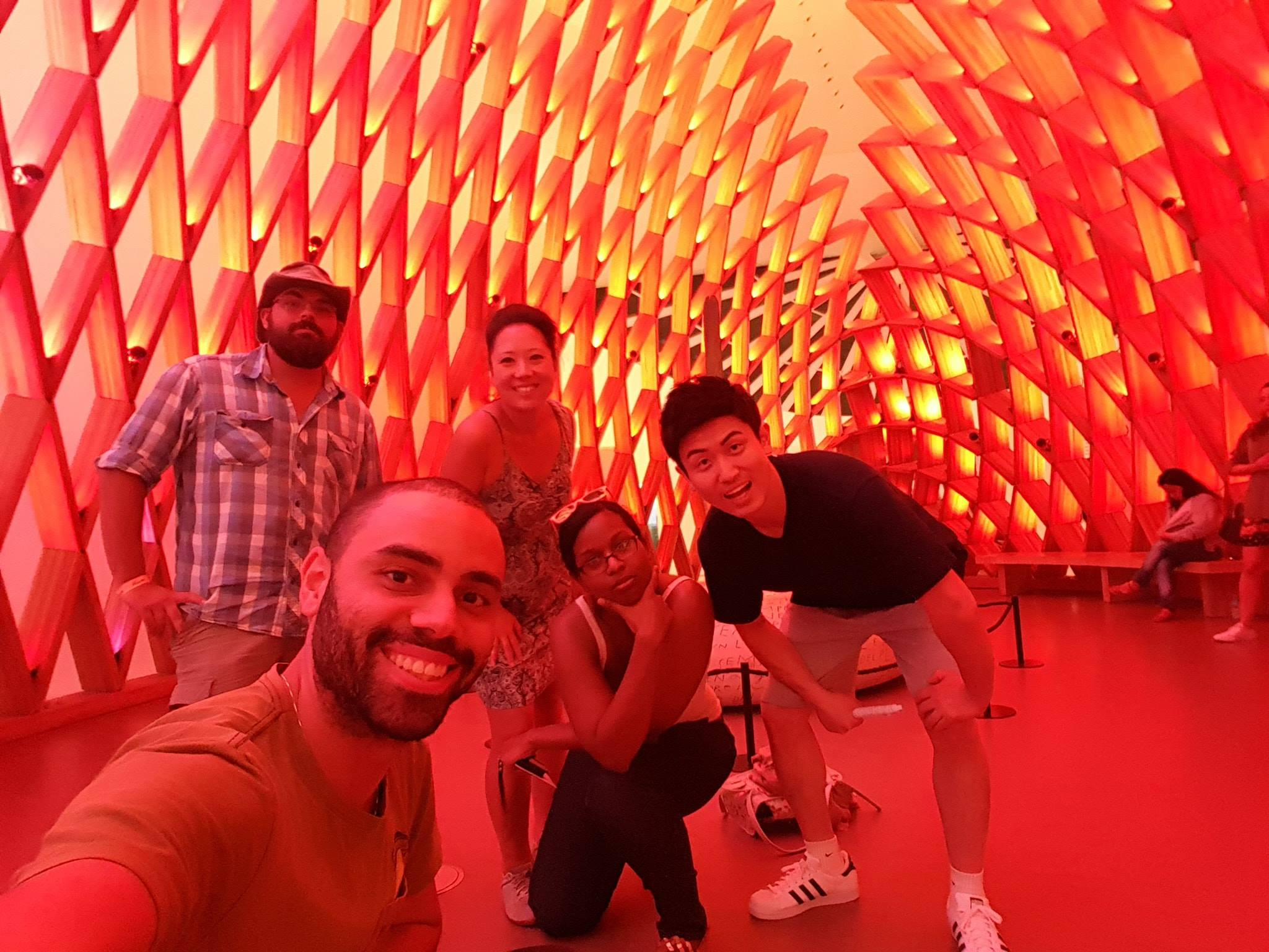 The gang at Museum of Tomorrow