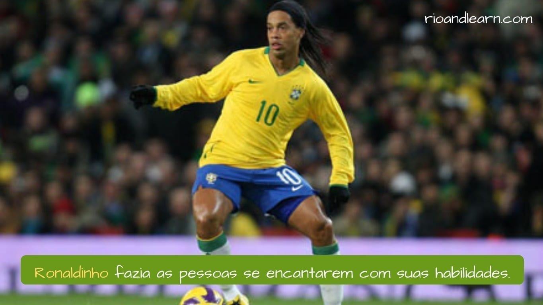 Melhores Jogadores de Futebol do Brasil. Ronaldinho fazia as pessoas se encantarem com suas habilidades.