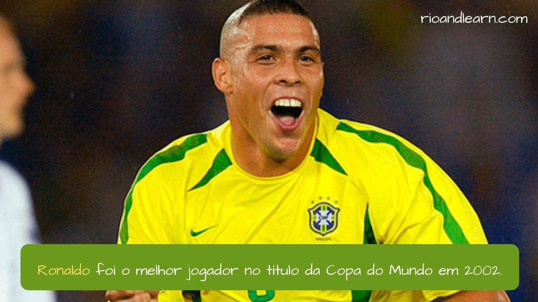 Melhores Jogadores de Futebol do Brasil. Ronaldo foi o melhor jogador no título da Copa do Mundo em 2002.