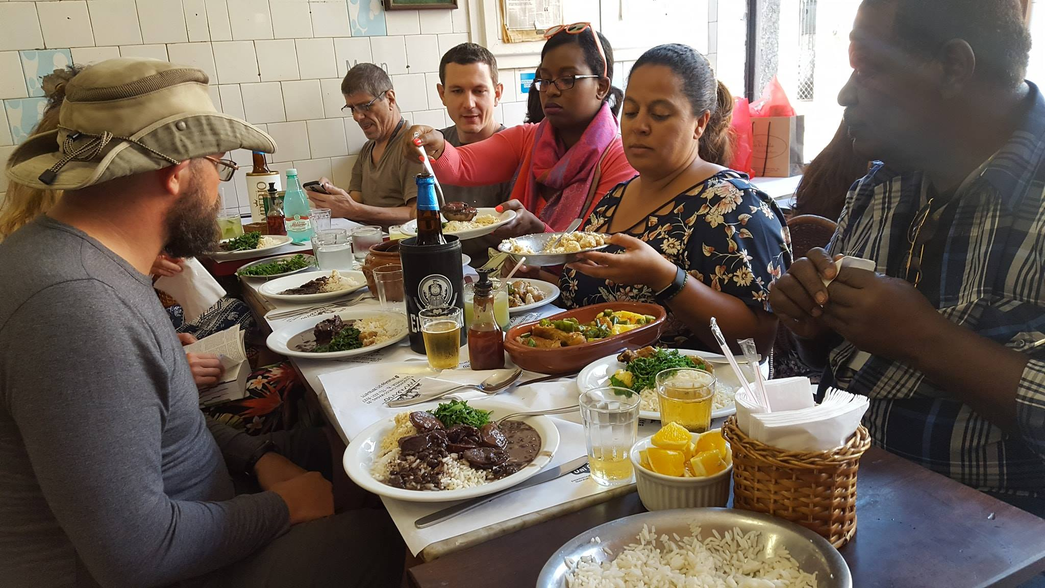 Delicious moment in Santa teresa: Feijoada.