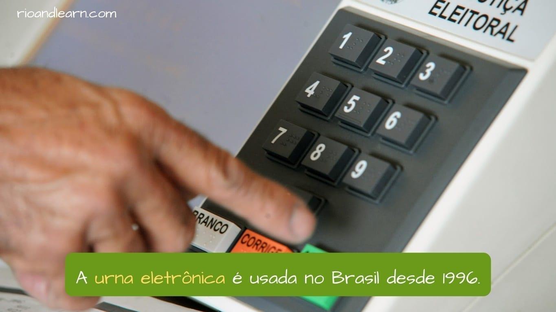 Brazil Political System. A urna eletrônica é usada no Brasil desde 1996.