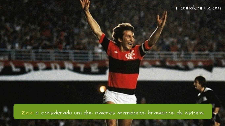 Melhores Jogadores de Futebol do Brasil. Zico é considerado um dos maiores armadores brasileiros da história.