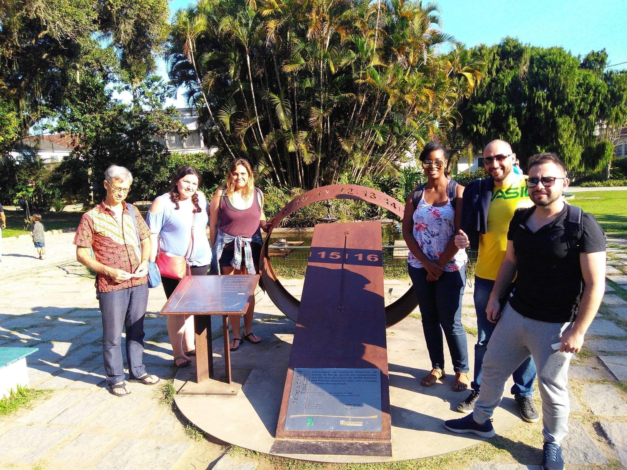 Botanical Monday. Students visiting the Botanical Garden in Rio de Janeiro.