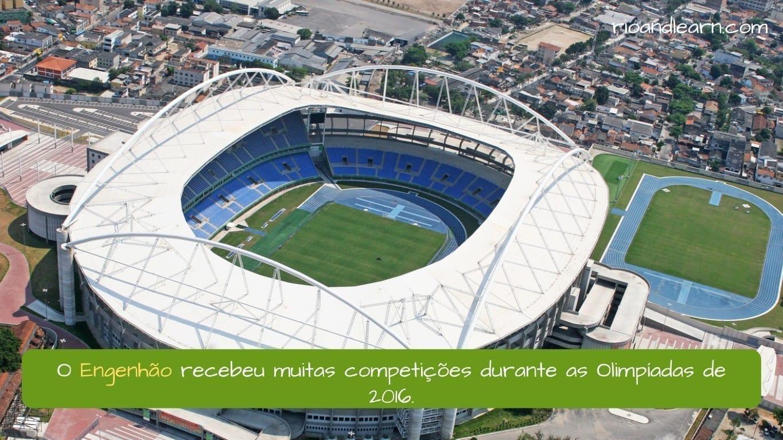 Rio Olympic Stadium. O Engenhão recebeu muitas competições durante as Olimpíadas de 2016.