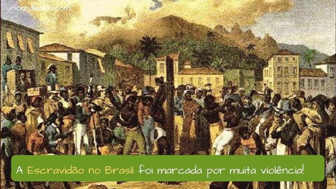 End of Slavery in Brazil. A Escravidão no Brasil foi marcada por muita violência!