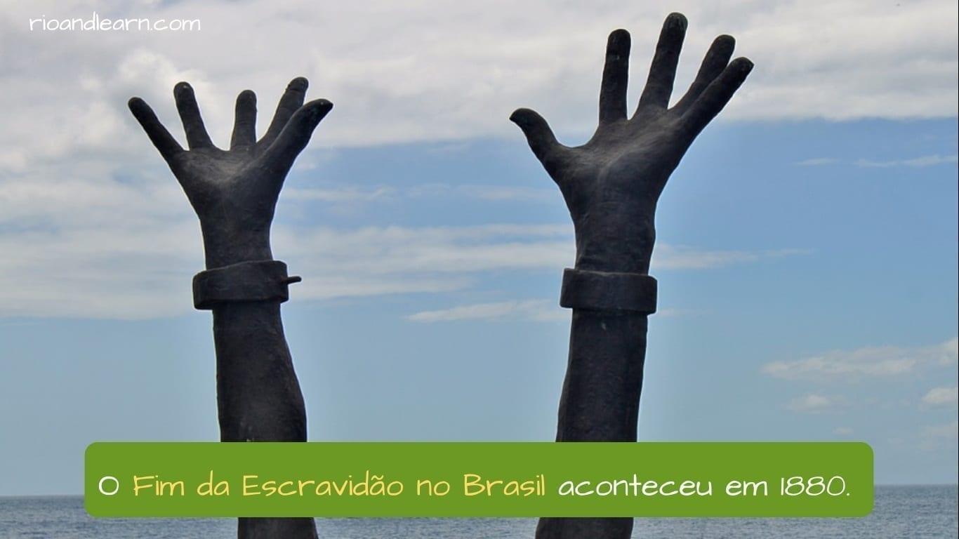 End of Slavery in Brazil. O Fim da Escravidão no Brasil aconteceu em 1880.