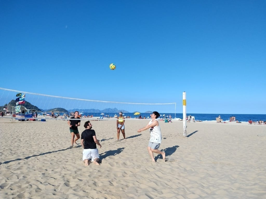 Playing Beach Volley in Rio.