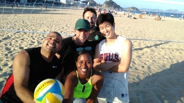 Beach Volley Crew. Playing Beach Volley in Copacabana.