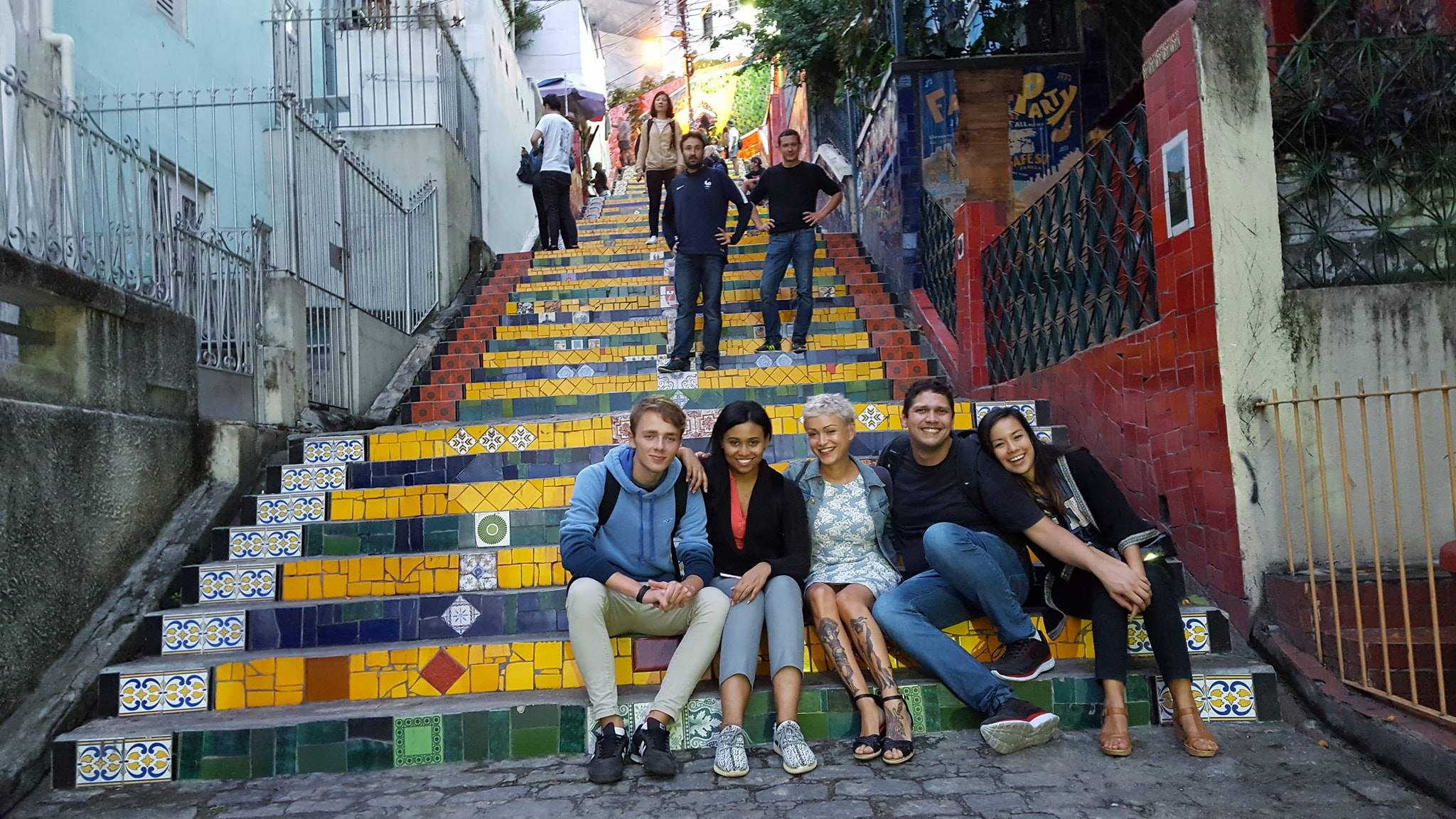 Dando un fin perfecto a nuestra RioLIVE! en la Escadaria Selarón!