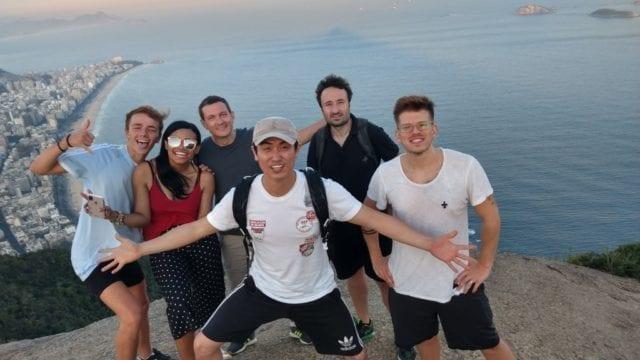 Conquering Morro Dois Irmãos. Tourists visiting Dois Irmãos