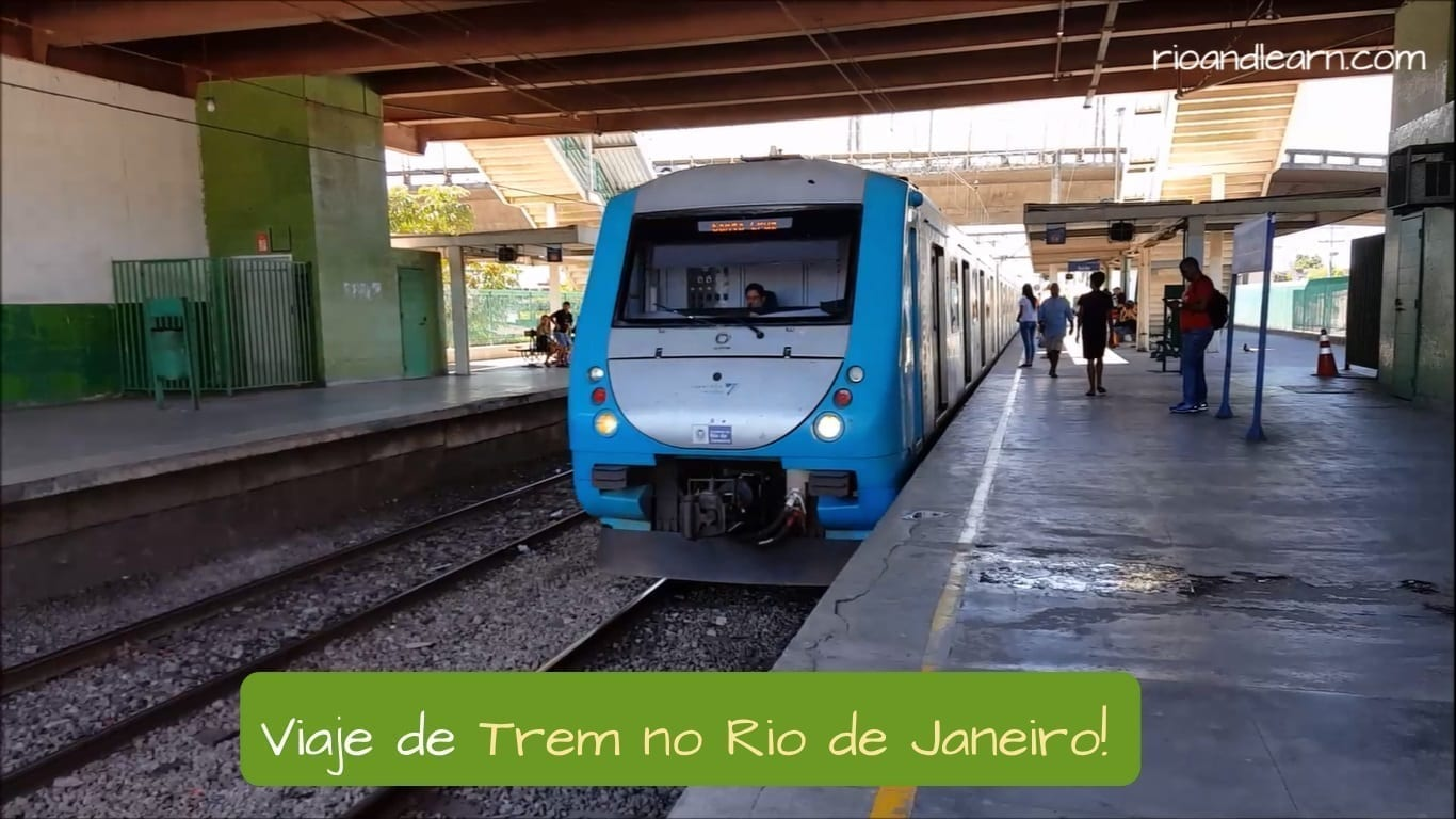 Train in Rio de Janeiro. Viaje de Trem no Rio de Janeiro!