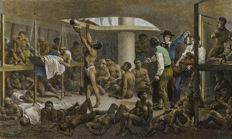 Slave ship headed to Brazil.