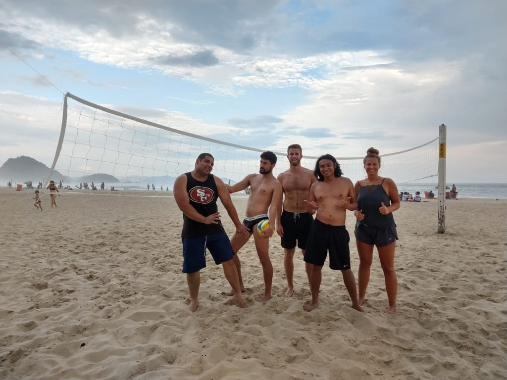 Beach Volley Squad. Beach Volley In Copacabana