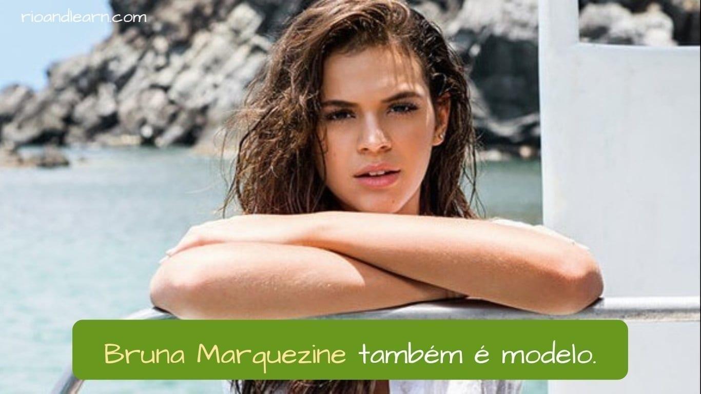 Best Brazilian Actors. Bruna Marquezine é uma atriz e também é modelo.