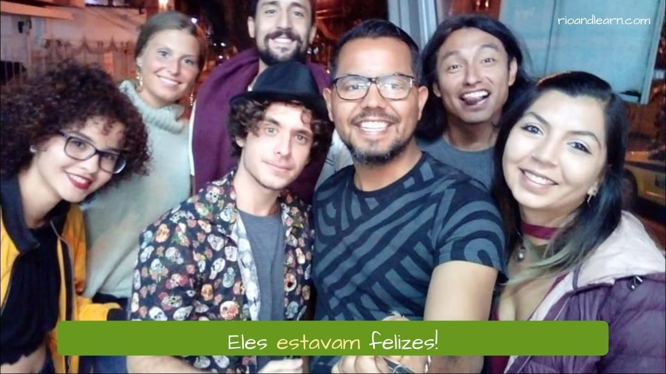 Estava em Português. Eles estavam felizes!