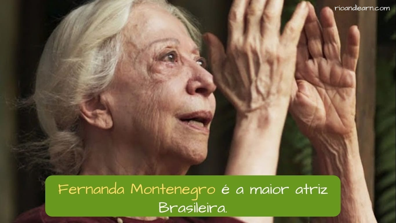 Best Brazilian Actors. Fernanda Montenegro é a maior atriz Brasileira.
