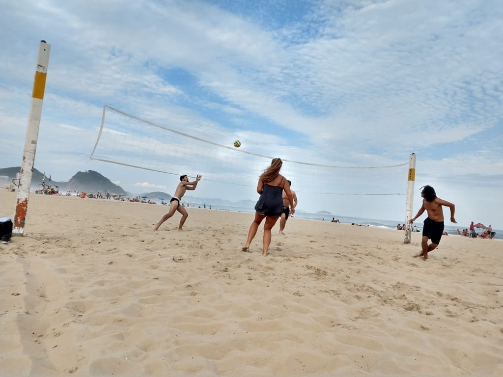 Tourists at Copacabana Beach
