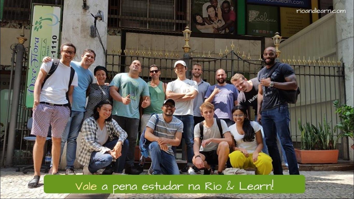 Valer Conjugation in Portuguese. Vale a pena estudar na Rio & Learn