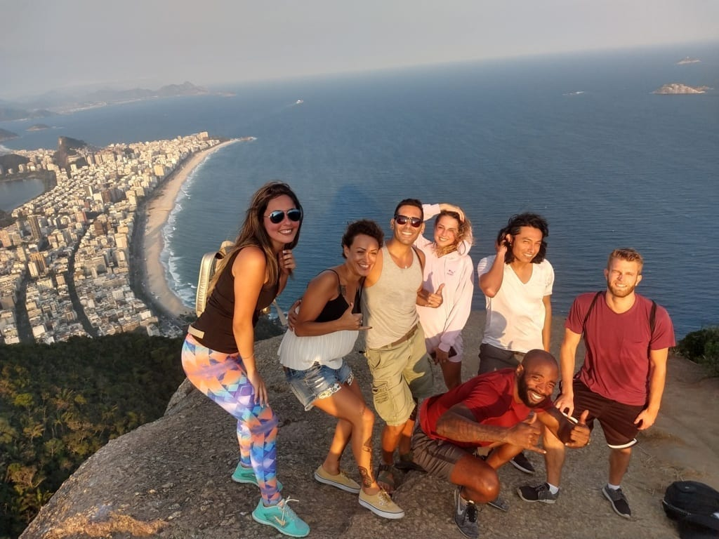 Great View and a Great Crew. Visiting Morro Dois Irmãos
