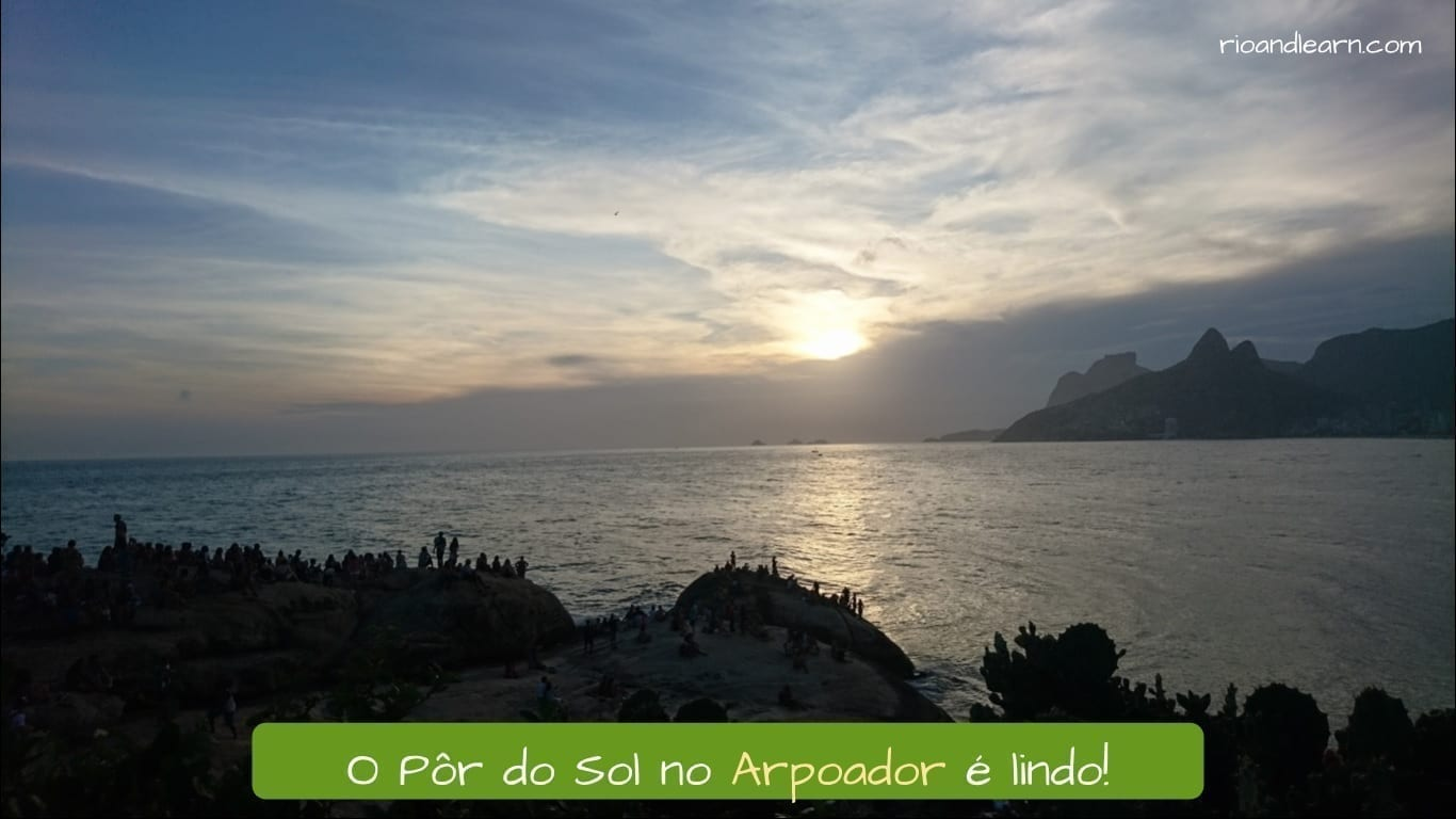 Arpoador Beach. A beautiful sunset on the Arpoador Beach.