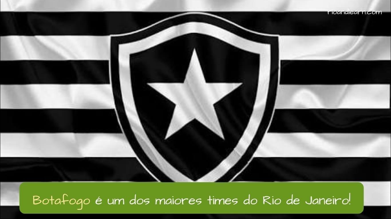 Time de Futebol Botafogo. Botafogo é uma dos maiores times do rio de janeiro