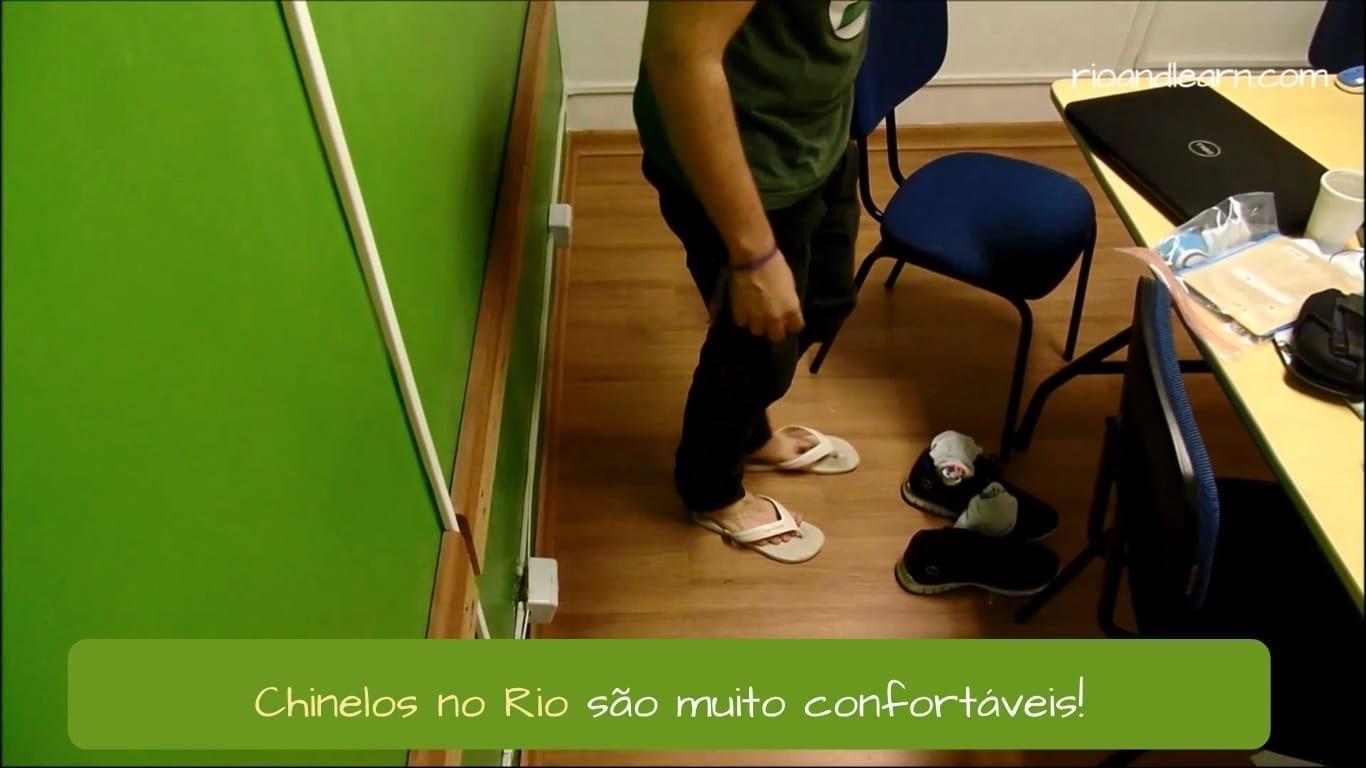Chinelo Carioca. Chinelos no Rio são muito confortáveis