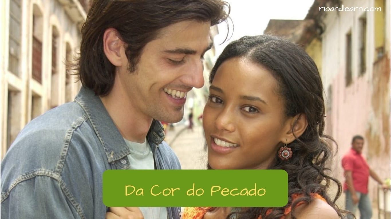 Brazilian Soap Opera. Characters from the soap opera Da cor do pecado