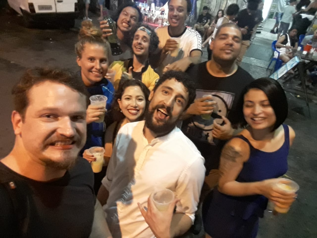 A Fun Night Out. Foreigners at Lapa