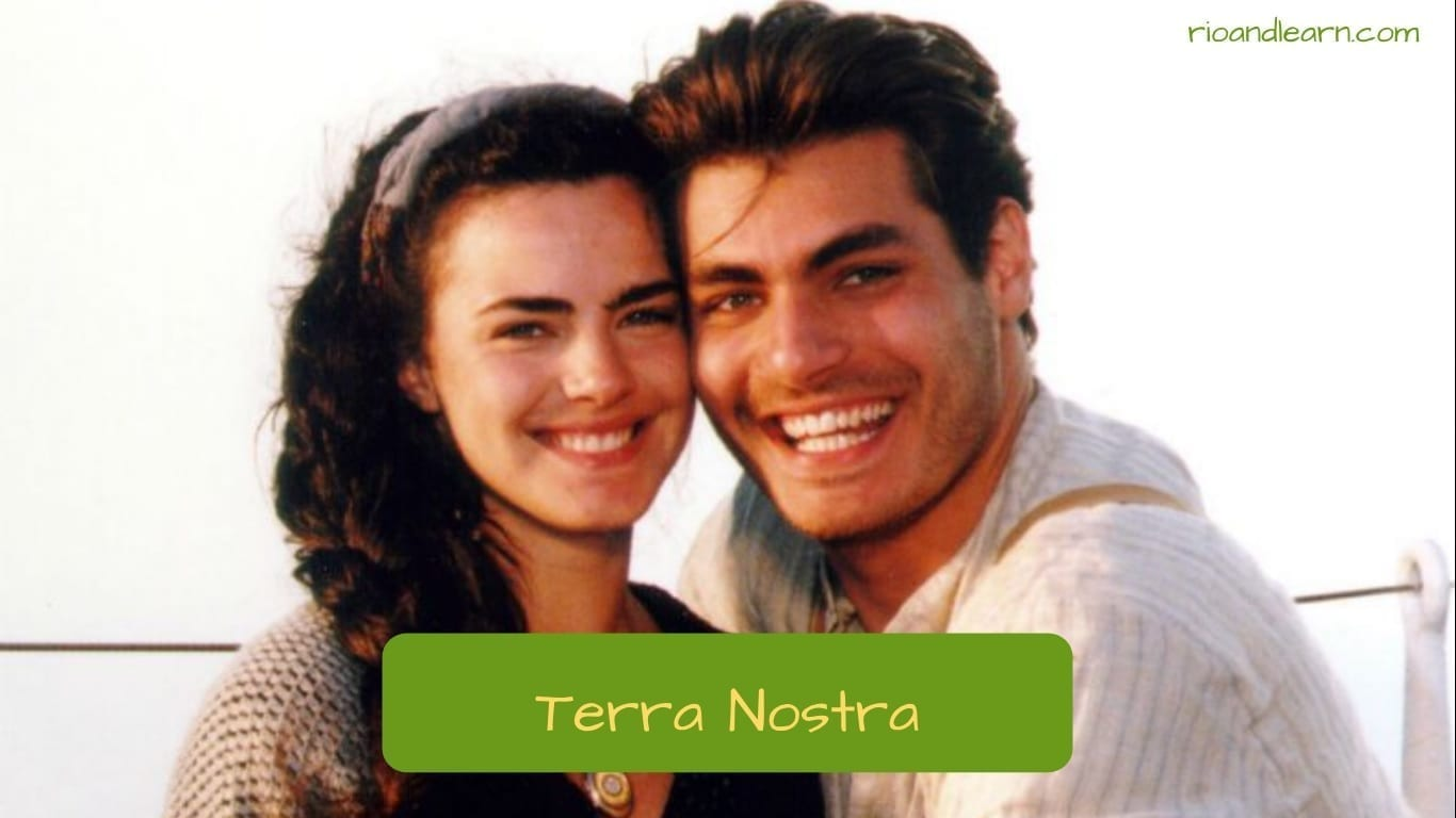 Brazilian Soap Opera. Characters from the soap opera Terra Nostra