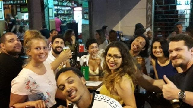 A Fun Night Out. Visiting Perdra do Sal