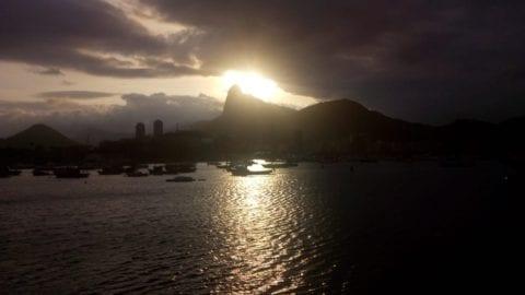 Cloudy Day at Urca. Beautiful sunset at Urca, Rio de Janeiro.