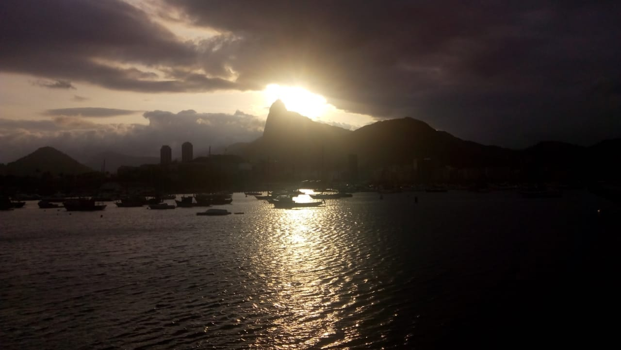 Cloudy Day at Urca. Beautiful sunset at Urca, Rio de Janeiro.