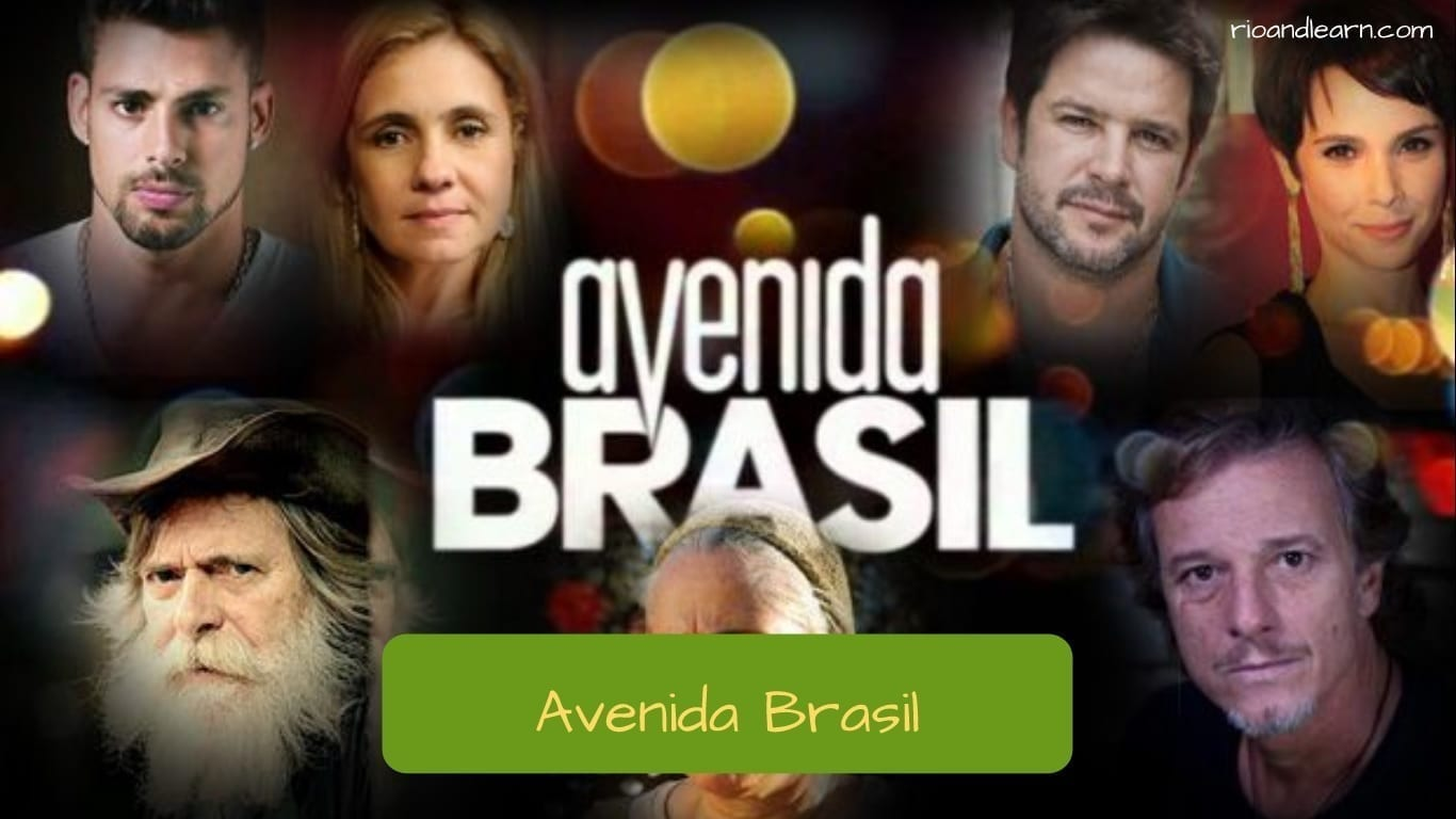 Brazilian Soap Operas. Photo with characters from the soap opera Avenida Brazil